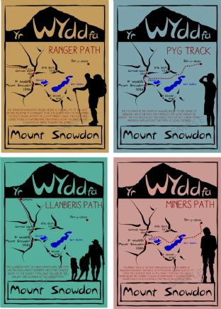 Mount Snowdon Postcards Vintage - Pack of 4
